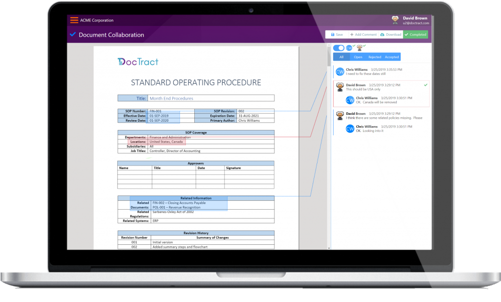 Policy Management Software - Document collaboration